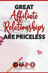 Great Affiliate Relationships Are Priceless
